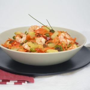 Crevettes au chutney