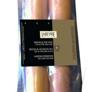 Ficelle de mousse d'oie, 50% de foie gras - 2 rouleuax sous-vide