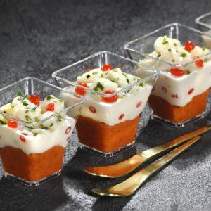 Verrines tomates marinées et noix de St Jacques 45g