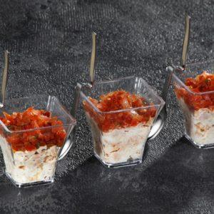 Verrines tartare de thon et tomates 35g