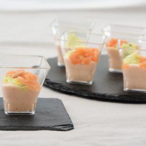 Verrines duo de saumon citron et aneth 12x45g